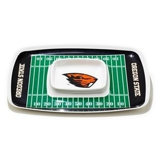 BSI Products 32079 Oregon State Beavers Chip Dip Tray