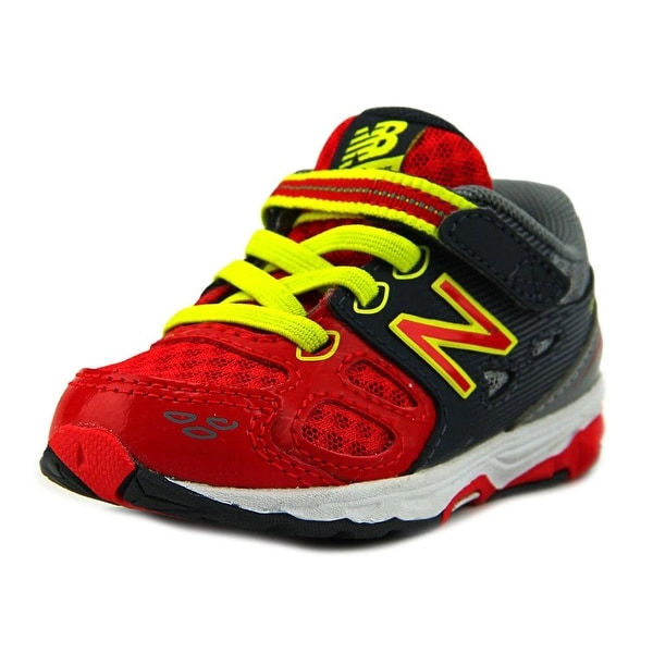 New Balance KR680 Infant W Round Toe Synthetic Red Sneakers