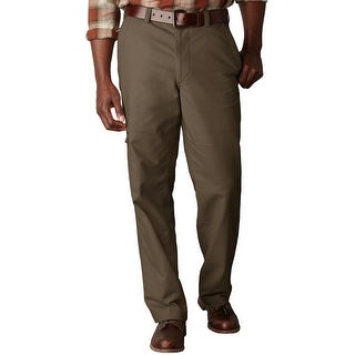 Dockers D3 Classic Fit Flat Front Comfort Cargo Pants Brown 40 x 29