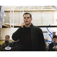 Matt Damon Signed 8x10 The Bourne Supremacy Photo PSA AD83865