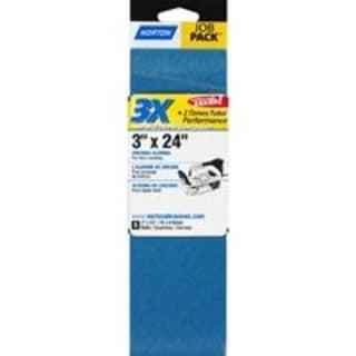 "Norton 07660749268 3X Power Sanding Belt, 3""x24"""