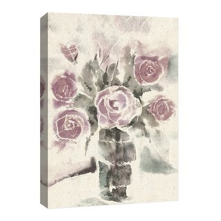 "PTM Images 9-126622  PTM Canvas Collection 8"" x 10"" - ""Aquarela Flower II"" Giclee Roses Art Print on Canvas"
