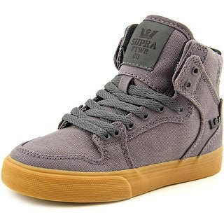 Supra Kids Vaider Round Toe Canvas Sneakers