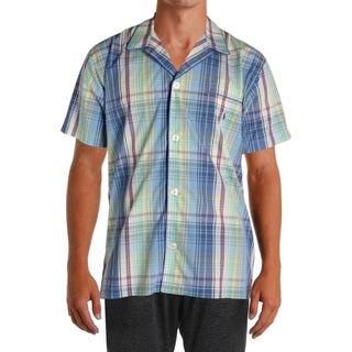 Polo Ralph Lauren Mens Sleep Shirt Plaid Button Front - M