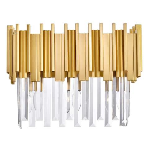 Deco 3 Light Vanity Light with Medallion Gold Finish - Medallion Gold - Medallion Gold