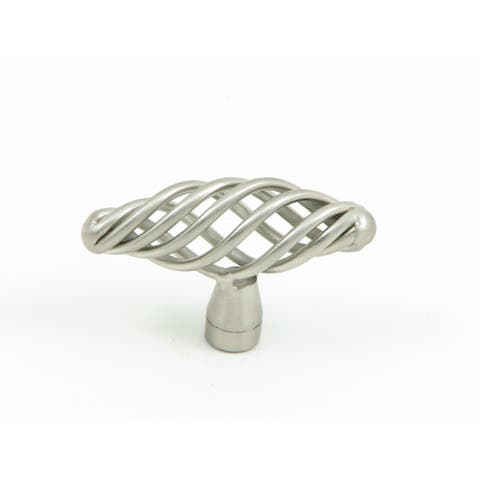Stone Mill Hardware - Satin Nickel Berkshire Birdcage Cabinet Knobs (Pack of 5)