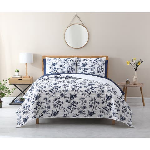 Avery Homegrown Iowa Floral Lyocell Quilt Set