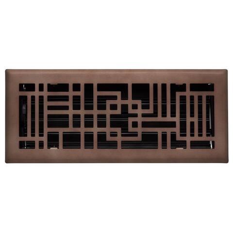 "Signature Hardware 941729-4-12 Baer Steel Floor Register - 4"" x 12"""