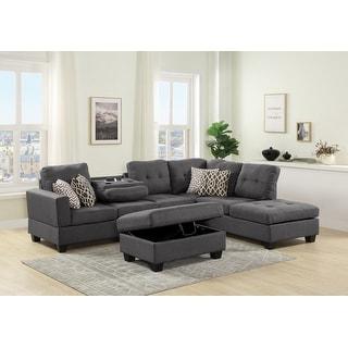 Copper Grove Qarshi Reversible Sectional Sofa Set