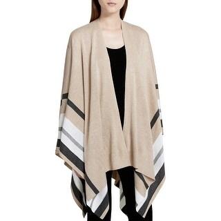 Calvin Klein Womens Ruanna Cardigan Sweater Striped Ribbed Hem - o/s