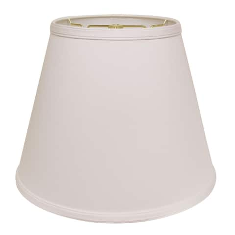 Cloth & Wire Slant Deep Empire Hardback Lampshade with Washer Fitter, White