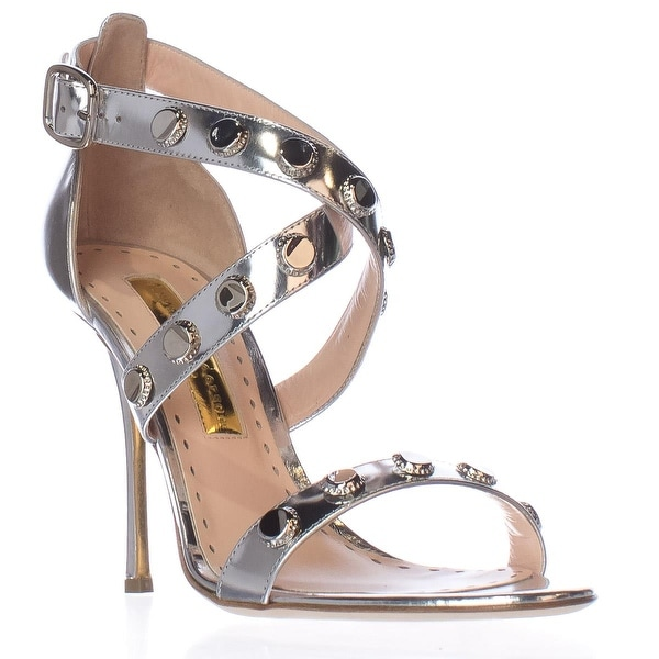 Rupert Sanderson Tiffany Strappy Dress Sandals, Silver