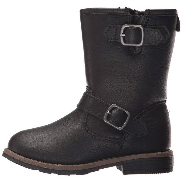 girls black boots size 5
