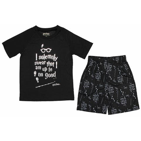 Harry Potter Intimo Big Boys Up to No Good Short Sleeve Boys Pajama Set