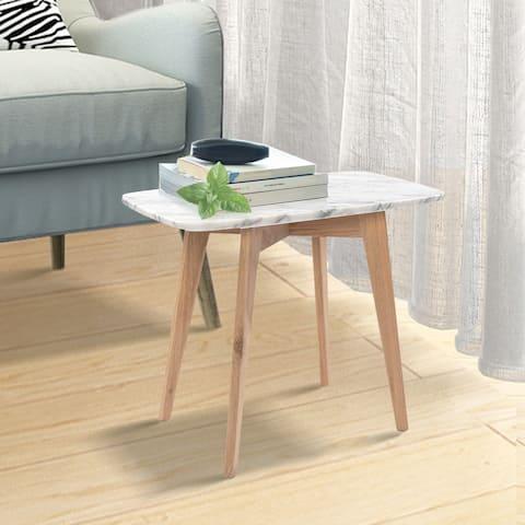 "Carson Carrington Tangalund Rectangular Italian Carrara Marble Table - 21.5""L x 12""W x 17.5""H"