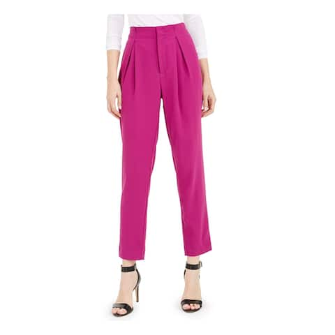 BAR III Womens Pink Wear To Work Pants Size 12
