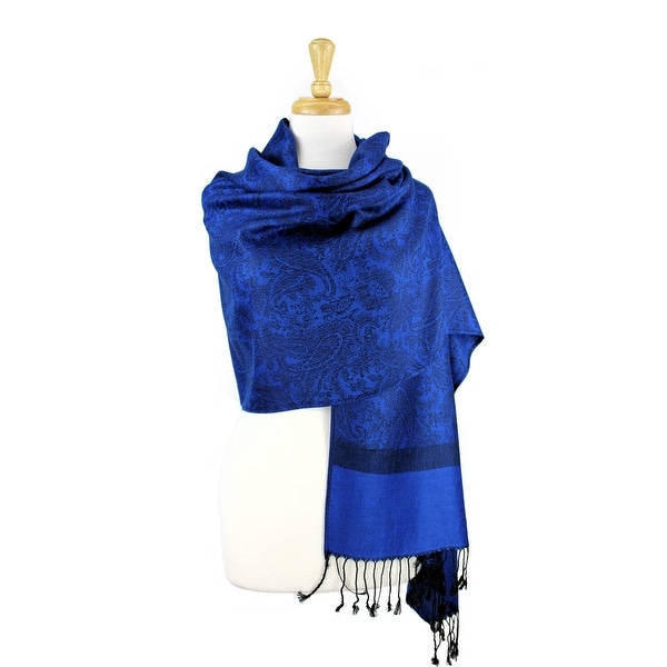 Elegant Sapphire Blue Solid Colored Eyelash Fringe FASHION Wrap Scarf