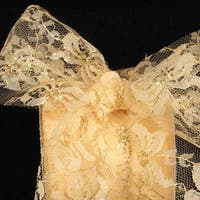 "Designer Soft Gold Floral Lace Craft Ribbon 3"" x 27 Yards"