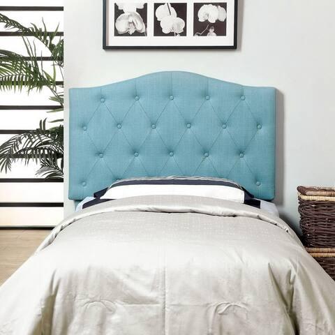 Furniture of America Kiff Modern Flax-Fabric Tufted Headboard