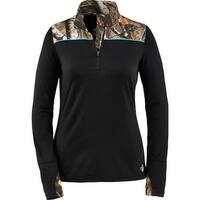 Legendary Whitetails Ladies Full Range Performance 1/4 Zip - Black