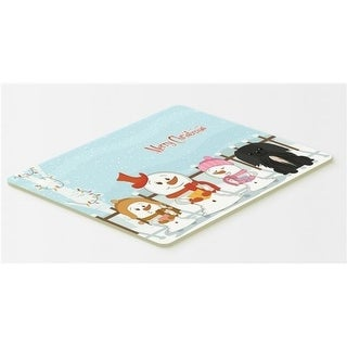 Carolines Treasures BB2438CMT Merry Christmas Carolers Pekingnese Black Kitchen or Bath Mat 20 x 30