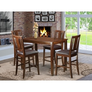 Link to Brown Solid Wood 5-piece Counter Height Dining Table Set Similar Items in Dining Room & Bar Furniture