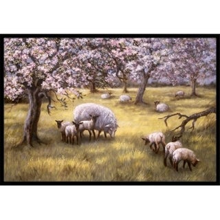 Carolines Treasures BDBA0133MAT Sheep by Daphne Baxter Indoor or Outdoor Mat 18 x 27