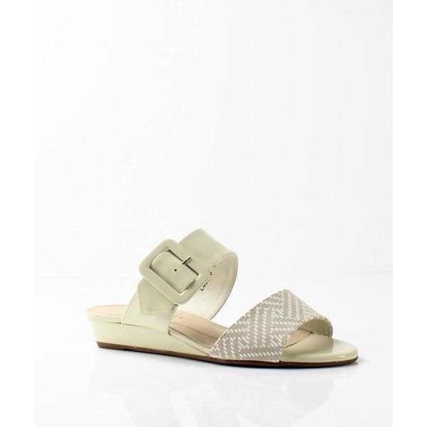 Rose Petals NEW White Ivory Women's Shoes Size 6.5WW Jada Slides
