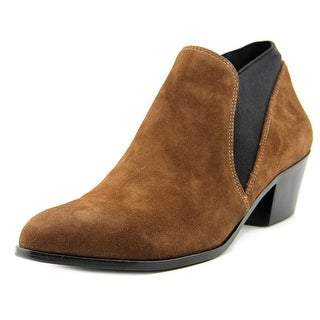 Via Spiga Cleone Women Pointed Toe Suede Brown Bootie