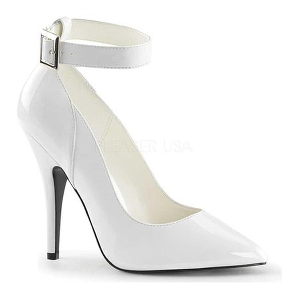 Pleaser Women's Seduce 431 White Patent