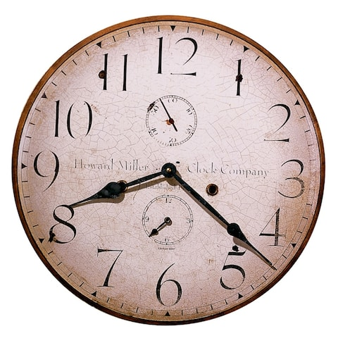 Howard Miller H. Miller 18 Inch Rustic, Industrial, Old World Style Distressed, Round Wall Clock
