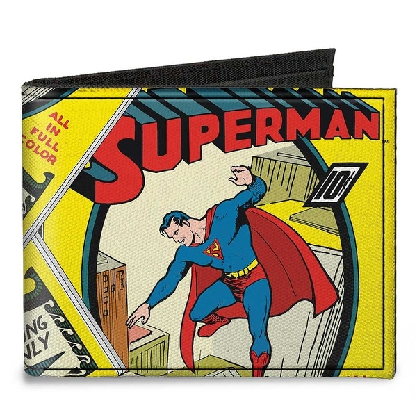 Classic Superman #1 Flying Cover Pose Canvas Bi Fold Wallet One Size - One Size Fits most