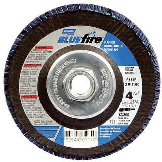 Norton 66254461170 BlueFire Zirconia Flap Disc, 60 Grit