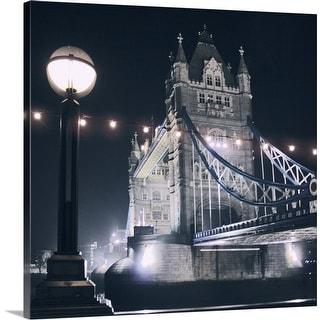 """Tower Bridge, London"" Canvas Wall Art"