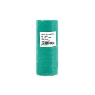 """Offray Tulle 100% Nylon 6"""" Teal"""