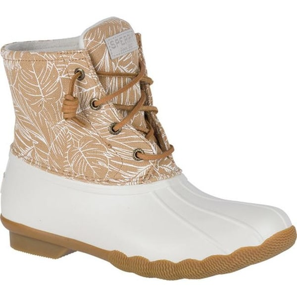 e683c714cca Shop Sperry Top-Sider Women's Saltwater Duck Boot Ivory/Palm Print ...