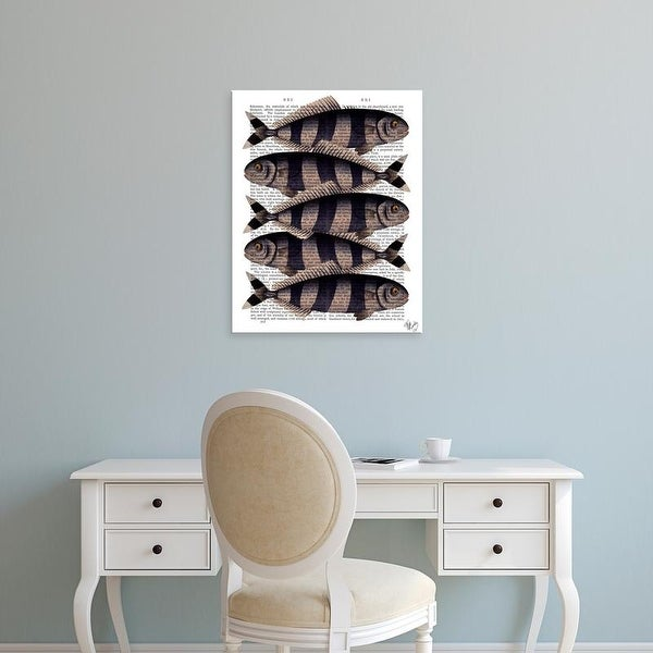 Easy Art Prints Fab Funky's 'Five Striped Fish' Premium Canvas Art