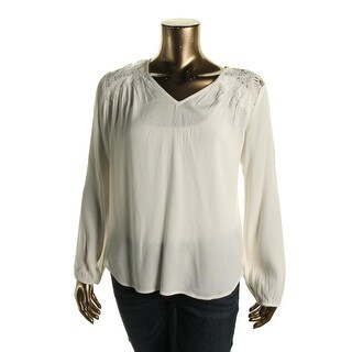 Karen Kane Womens V-Neck Crepe Pullover Top - XL