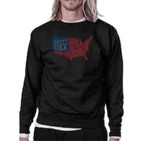 Happy Birthday USA Unisex Black Sweatshirt Crewneck Pullover Fleece