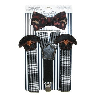 ABG Accessories Infants' Cowboy Hat Suspender and Bow Tie Set - Black - One Size