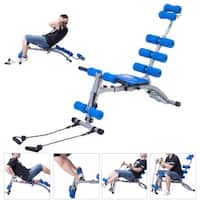 Costway 5 In 1 Multi-functional Twister AB Rocket Abdominal Trainer Core Trainer Bench