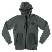 Adidas Mens Modern Mix High Definition Jacket Dark Grey - Dark Grey/Black
