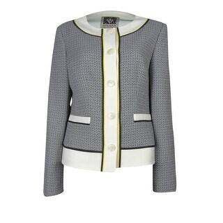 Anne Klein Women's Solar Flair Woven Jacket