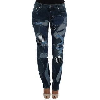 Dolce & Gabbana Dolce & Gabbana Blue Cotton Stretch Patchwork Denim Jeans