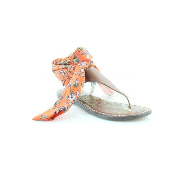 4d13d4eb188 Shop Sam Edelman Giliana Women s Sandals   Flip Flops Orange   Brown ...