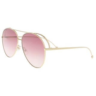 Fendi FF0286S 0000 Rose Gold Aviator Sunglasses - 63-13-135