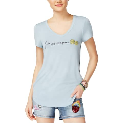 Rebellious One Womens Embroidered Graphic T-Shirt