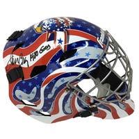 Jim Craig Signed Franklin Full Size USA Goalie Mask 1980 Gold Insc JSA