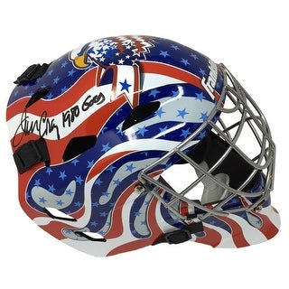 Jim Craig Signed Franklin Full Size USA Goalie Mask 1980 Gold Insc JSA