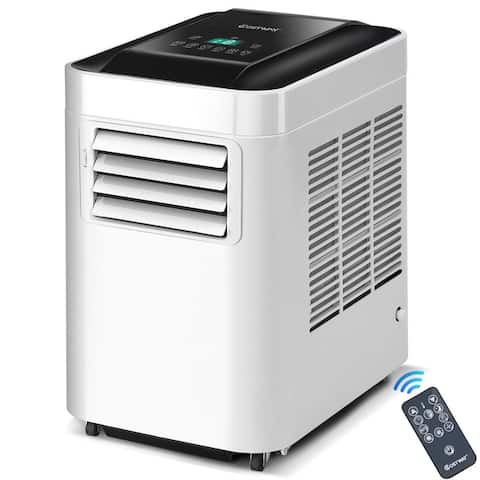 Costway Portable Air Conditioner 10000BTU AC Unit & Dehumidifier LCD w Remote Control - White